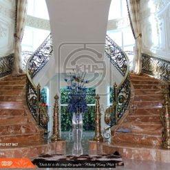 Cầu thang sắt mỹ thuật quý tộc CT006