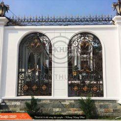 Hàng rào sắt mỹ thuật phong cách châu Âu HR002