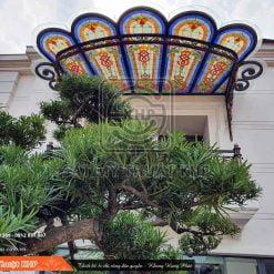 Mái vòm sân thượng đẹp Hoa Kính Đồng MAC003